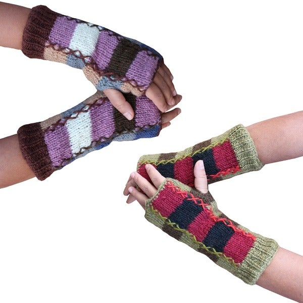 Patch Knit Arm Warmer (Nepal)