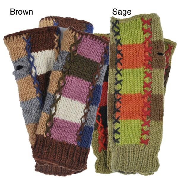 Patch Knit Arm Warmer (Nepal)