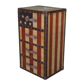 International Caravan Americana 'Stars and Stripes' 4-Drawer Chest