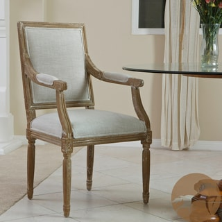 Christopher Knight Home Madison Oak Natural Fabric Arm Chair