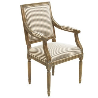 Christopher Knight Home Madison Oak Striped Fabric Arm Chair