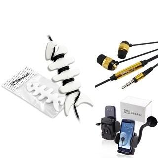 BasAcc Golden/ Black Headset/ Wrap/ Car Mount