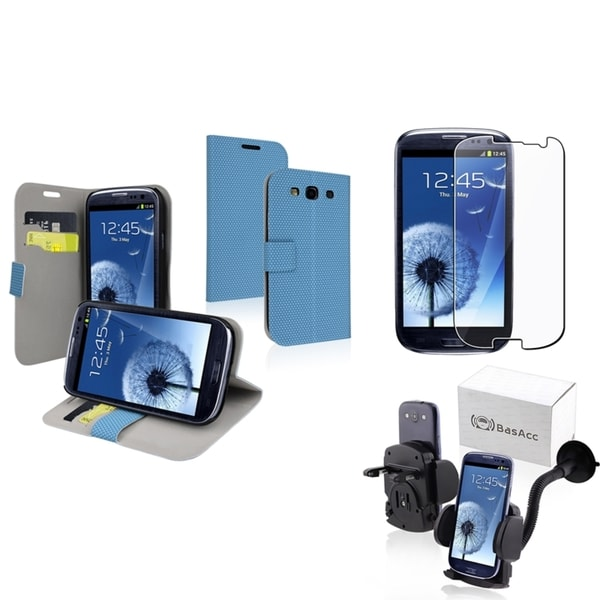 BasAcc Case/ Protector/ Car Mount for Samsung Galaxy S III/ S3