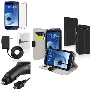 BasAcc Leather Case/ Protector/ Chargers for Samsung Galaxy S III/ S3