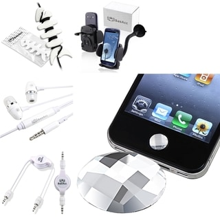 BasAcc HOME Button Sticker/ Mount/ Cable/ Wrap/ Headset for Apple