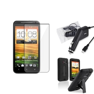 BasAcc Black Case/ Screen Protector/ Charger for HTC EVO 4G LTE
