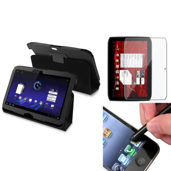 BasAcc Black Case/ Screen Protector/ Stylus for Motorola Xoom 2