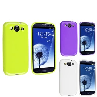 BasAcc White/ Purple/ Green TPU Case for Samsung� Galaxy S3