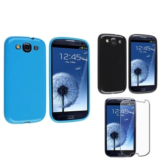 BasAcc Black/ Blue Case/ Screen Protector for Samsung� Galaxy S3