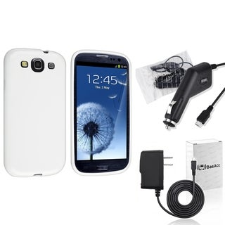 INSTEN Phone Case Cover/ Travel/ Car Charger for Samsung Galaxy S3