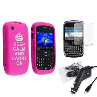 BasAcc Case/ Screen Protector/ Car Charger for BlackBerry Curve 9300