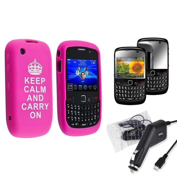 BasAcc Case/ Screen Protector/ Car Charger for BlackBerry Curve 8520