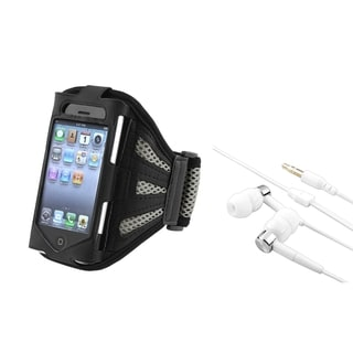 BasAcc Black Armband/ Headset for Apple iPhone 4/ 4S