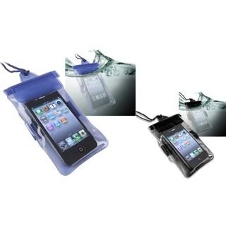 BasAcc Black/ Blue Waterproof Bag for Apple iPhone 4/ 4S