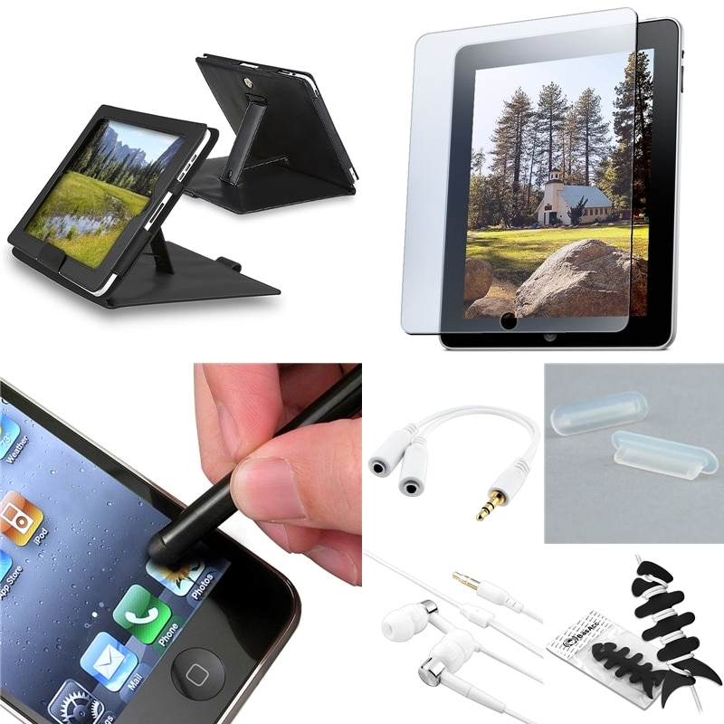 BasAcc Case/ Headset/ Protector/ Stylus/ Splitter for Apple iPad 1