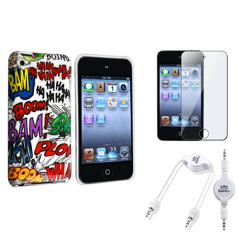 BasAcc Case/ Protector/ Audio Cable for Apple iPod Touch Generation 4