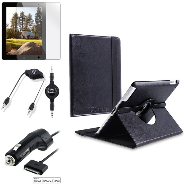Leather Case/ Protector/ Car Charger/ Cable for Apple iPad 2/ 3