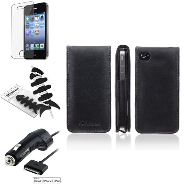 Leather Case/ Protector/ Charger/ Wrap for Apple iPhone 4S
