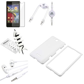 BasAcc White Case/ Protector/ Headset/ Cable for LG Lucid VS840