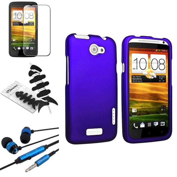 BasAcc Blue Case/ Protector/ Headset/ Wrap for HTC One