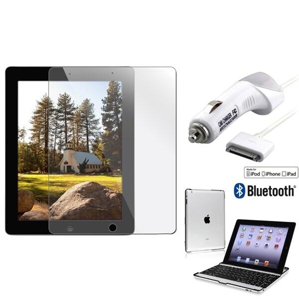 Bluetooth Keyboard/ LCD Protector/ MYBAT Car Charger for Apple iPad 2