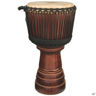 Classical Hand Carved Professional Level Djembe Drum (Indonesia)