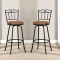 Scroll Black Adjustable Metal Swivel Counter Height Bar Stools (Set of 2)