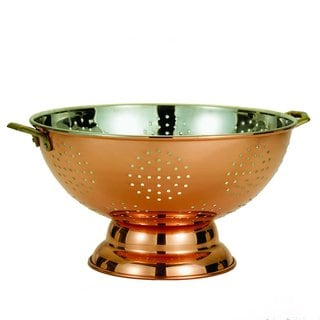 Old Dutch Solid Copper Footed Colander/ Centerpiece