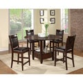 American Lifestyles 'Monroe' Espresso Counter Height Chairs (Set of 2)