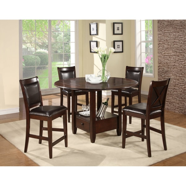 'Monroe' Espresso Counter Height Chairs (Set of 2)