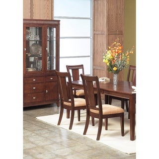 American Lifestyles 'Salvatore' Dark Walnut Side Chairs (Set of 2)