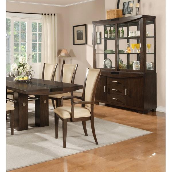 American Lifestyles 'Britany' Dark Walnut Arm Chairs (Set of 2)