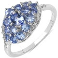 Malaika Sterling Silver 7/8ct TGW Tanzanite Cluster Ring
