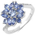 Malaika Sterling Silver 1 1/10ct TGW Tanzanite Ring