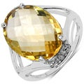 Malaika Sterling Silver 8 1/2ct TGW Citrine and White Topaz Ring
