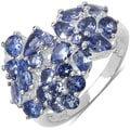 Malaika Sterling Silver 2 3/4ct TGW Tanzanite Ring