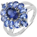 Malaika Sterling Silver 2 2/5ct TGW Iolite and Tanzanite Ring