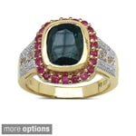 Malaika Yellow Gold over Sterling Silver Gemstone Ring