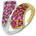 Malaika Sterling Silver 1 1/5ct TGW Tanzanite or Ruby Ring