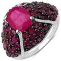 Malaika Sterling Silver 5 3/5ct TGW Ruby Ring