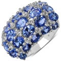 Malaika Sterling Silver 7 3/8ct TGW Tanzanite and White Topaz Ring
