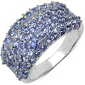 Malaika Sterling Silver 2 1/3ct TGW Tanzanite Ring