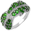 Malaika Sterling Silver 1 1/10ct TGW Chrome Diopside Ring
