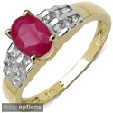 Malaika Silver Ruby or Mystic Topaz and White Topaz Ring