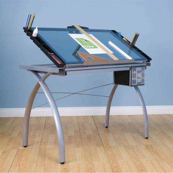 Studio Designs Futura Craft Station Silver/ Blue Glass