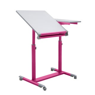 Studio Designs Pink/White Europa Split Top Drafting Table