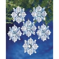 Holiday Beaded Ornament Kit-Filagree Snowflake 1-3/4