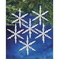 "Holiday Beaded Ornament Kit-Ice Crystal Snowflake 3"" Makes 12"