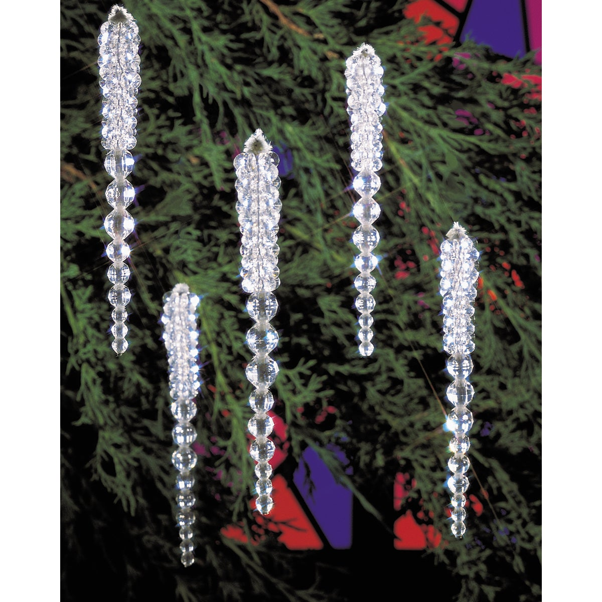 "Holiday Beaded Ornament Kit-Sparkling Icicles 3-3/4"" Makes 30"