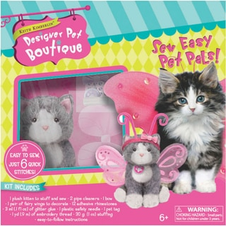 Sew Easy 'Grey Cat with Wings' Pet Pals Kit